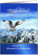 Eagle Scout Court of Honor Invitation, Flying White Eagle, Custom card