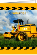 Heavy Equipment Operating Engineer Graduation Announcement card