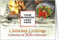 Christmas Greetings from Contractor on 50th Anniversary Custom card