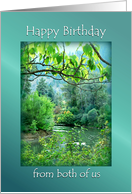 Happy Birthday from Both of Us, River Scene in Leavenworth WA card