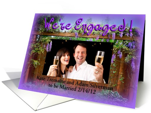 Engaged! Wisteria Photo card (866676)