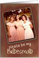 Be My Bridesmaid, Funny Faces Invitation card
