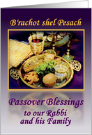 Rabbi and Family, Passover Seder Plate with Purple and Gold card