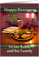 Rabbi and Family, Passover Seder Plate with Mauve and Green card