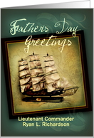 Custom Father's Day Greetings, Sailing Ship card