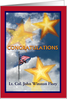Congratulations, Bronze Star Medal Award with Custom Name card