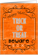 Happy Halloween Trick or Treat Spooky Ghosts card