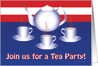 Join us for a Tea Party! with Stripes card