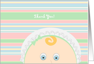 Thank You for Helping Us Welcome Baby! - Baby Faced card