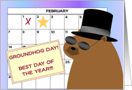 Best Day of the Year! Spotlight on Me!!! - Groundhog Day card