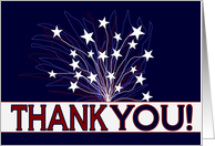 Fireworks & Stars Thank You for Your Family's Service - Military card