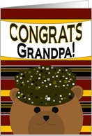 Grandpa - Congratulate Army Member on Any Army Award/Recognition card