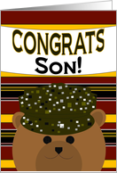 Son - Congratulate Army Member on Any Army Award/Recognition card