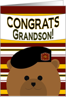 Grandson - Congrats! 2nd Lieutenant Army Commissioning card