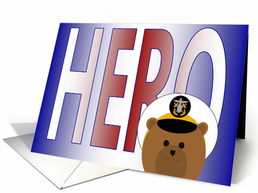 Memorial Day Card for Family of Fallen Hero - Naval Officer Male card