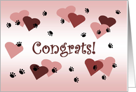 Puppy Print Love - New Puppy Dog Family Member Congratulations card