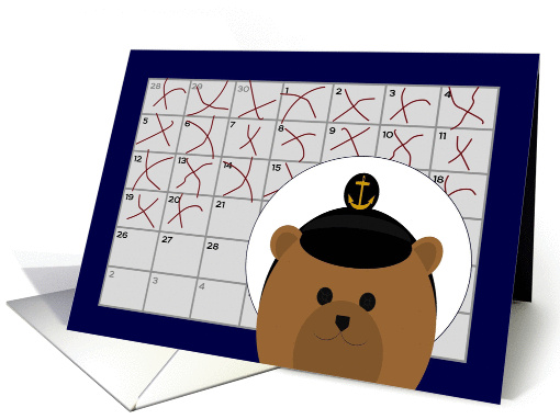 Calendar Counting Down the Days! - From Naval Enlisted/Male card