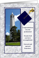 Bell Tower Graduation Congratulations card