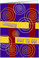 Congrats! Way to Go! on Your Award - Recognition card