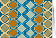 Business Meeting Follow-Up - StylishTeal and Gold Geometric Design card
