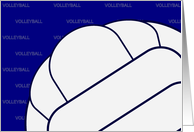 Volleyball Encouragement Card