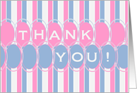 Thank You for New Baby Gifts in Blue, Pink, White card