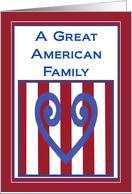 Great American Military Family! - Thank You card