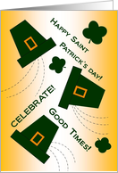 Fun Happy Birthday and Happy Saint Patrick's Day Wishes card