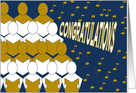 Congratulations - Sings Choir - From a Group card