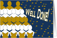Well Done! - Sings Choir - Music Competition Congrats card