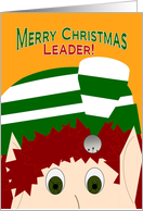 Merry Christmas Girl Scout Leader! - Cute Elf card
