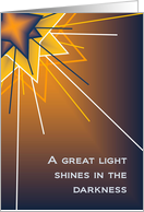 A Great Light Shines In Darkness - Thank You card