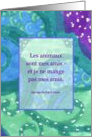 George Bernard Shaw French Quote/Citation Animaux Amis card