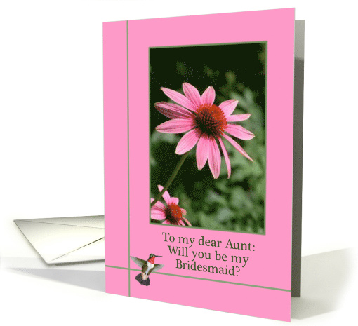 Aunt, Will You be My Bridesmaid Invitation card (1142440)