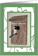 Father's Day Luncheon Invitation Chickadee card