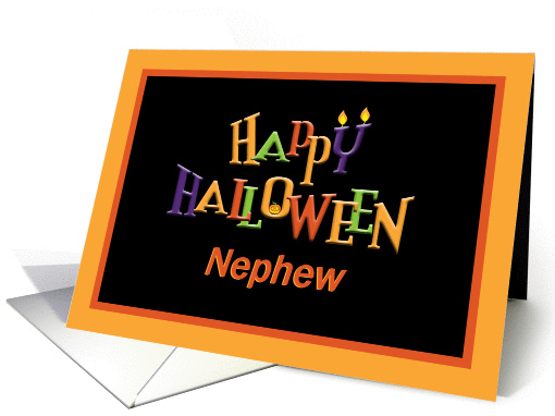 Colorful Happy Halloween for Nephew card (1093636)