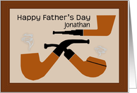 Customize name on retro Father's Day card