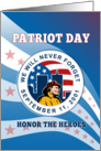 Patriot day Remember 911 card American Fireman Firefighter card