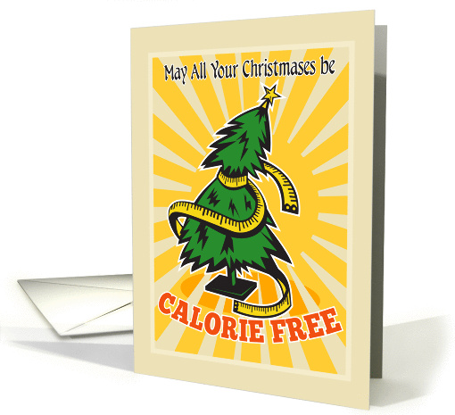 May All Your Christmases be Calorie Free card (950585)