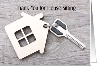 Thank You for House Sitting card for house sitter card
