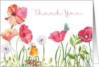 Thank You Card - Nature in Watercolors card