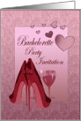Bachelorette Party Invitation with Stiletto Shoes Art Card