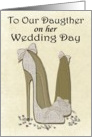 To Our Daughter on her Wedding Day, Wedding Stiletto Art Card