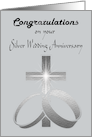 Congratulations on your Silver Wedding Anniversary Card