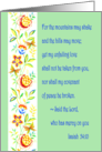 In Remembrance of the Loss of Your Daughter - Bible Verse Isaiah 54:10 card
