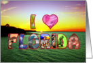 Scenic and Colorful - I Heart Florida - Blank Inside card