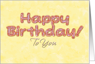 Bright Happy Golden Birthday Wishes to You! card