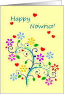 Happy Nowruz With Spring Flowers and Love, From Our Home to Yours card