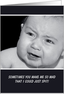Funny I Forgive You With Cute Mad Baby Photograph card