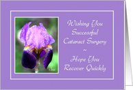 Cataract Surgery - Quick Recovery - Iris Flower card